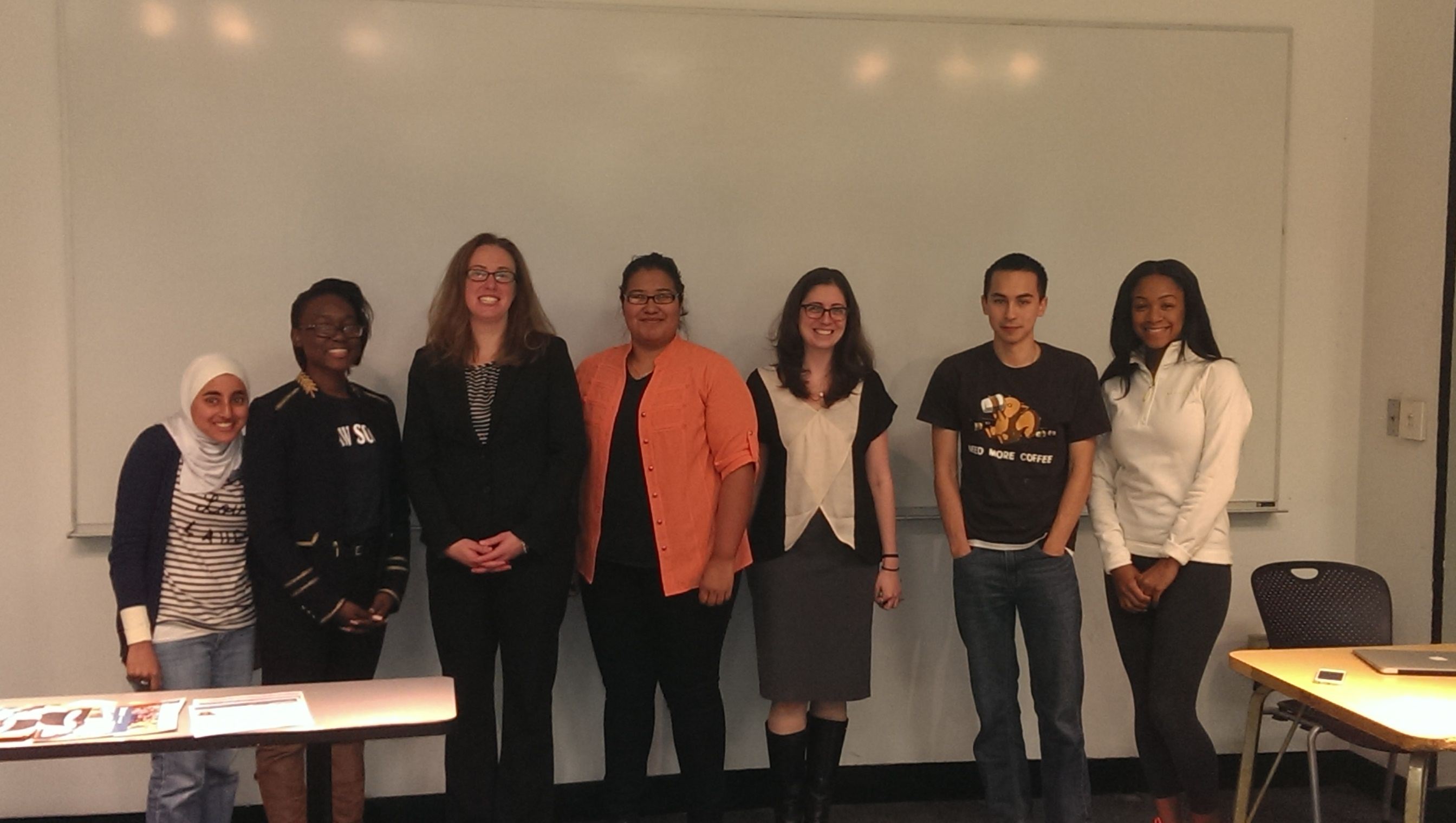 Pre-Law Society Members with Professors Jordan Paradise (Seton Hall School of Law) and Alison Lefkovitz (NJIT)